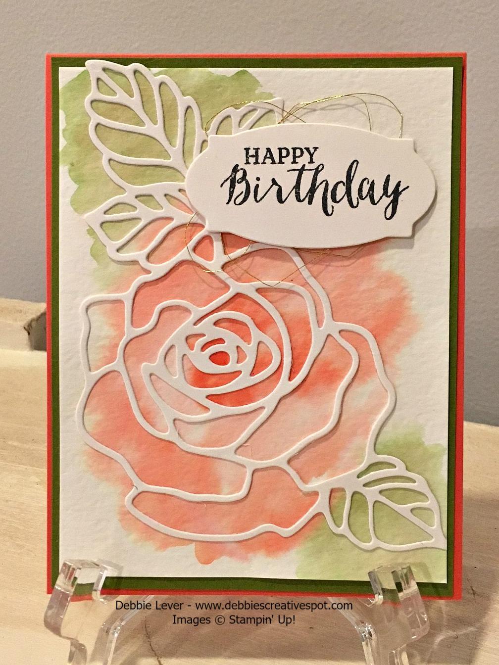 debbie's creative spot rose wonder birthday card weekly