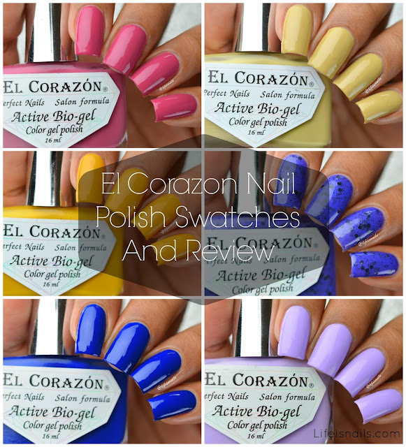 El Corazon swatches
