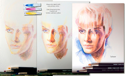 Pintura con lápices acuarelables. Carandache.