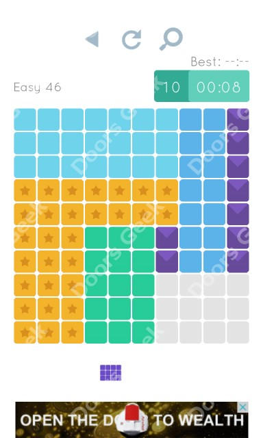 Cheats, Walkthrough for Blocks and Shapes Level 46