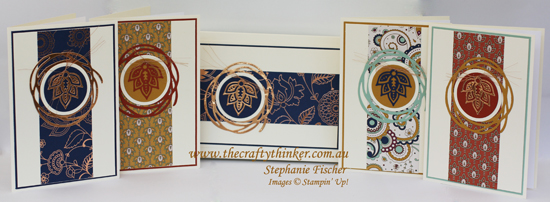Stampin Up, #thecraftythinker, #crazycraftersbloghop, #SS007, Paisleys, Swirly Scribbles, Stampin Up Australia Demonstrator, Card Set