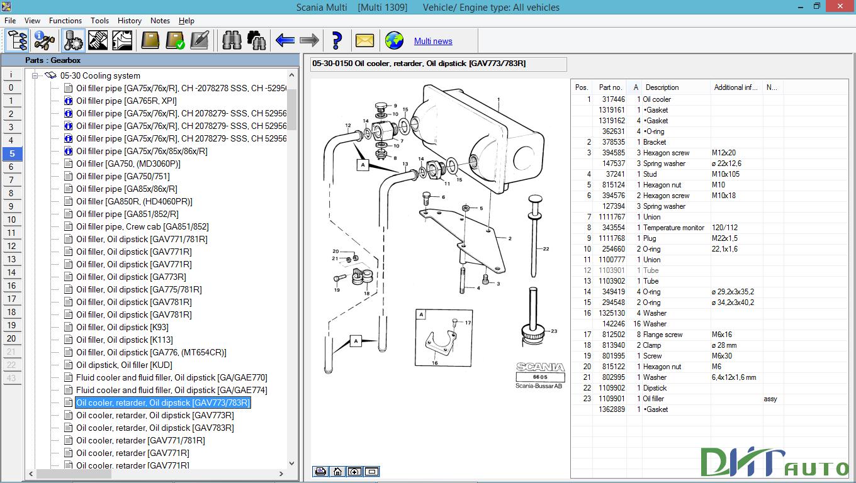 Scania multi 2017 parts catalogue service documentation