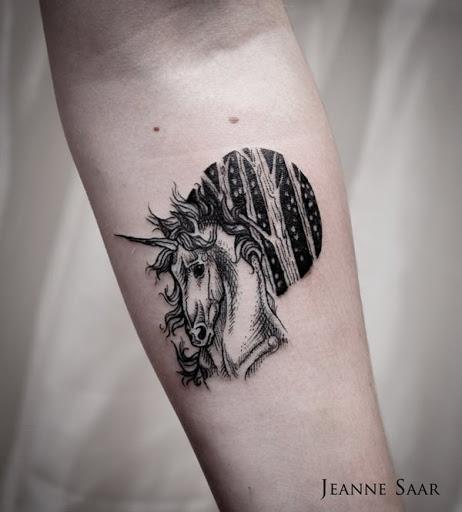 O galante cabeca de unicornio