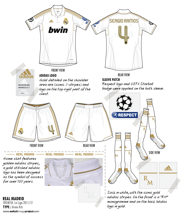 27dc438ec4c Football teams shirt and kits fan  Real Madrid 2011-12 Home kits