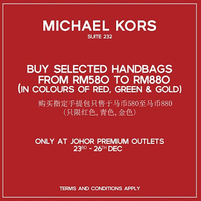 Johor Premium Outlets Michael Kors Handbags Discount Promo