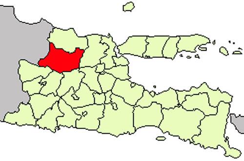 Gambar Peta Lokasi Kabupaten Bojonegoro