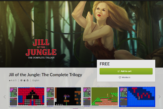 Screencap of Jill of the Jungle storefront on GOG