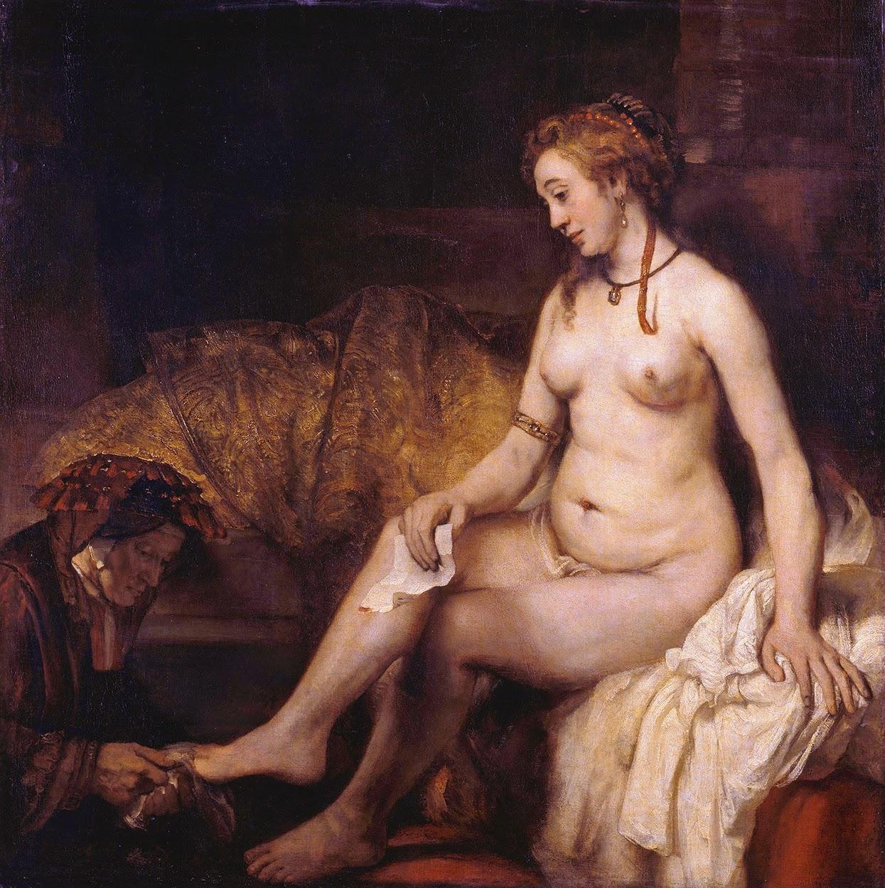 Rembrandt - Betsabé con la carta de David - Louvre