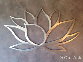Lotus Metal Wall Art