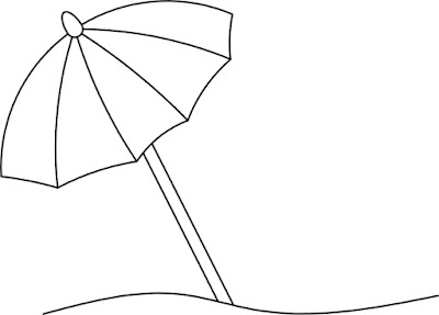umbrella, beach, sun, design, clip art, sketch