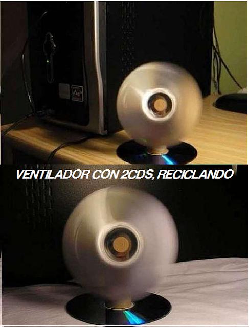 ventilador, reciclar, CDS, USBS, inventos, proyectos, manualidades, diys