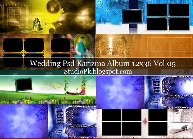 Photoshop Karizma Album Design Psd 12X36 Vol 05