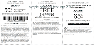 free Joann coupons february 2017
