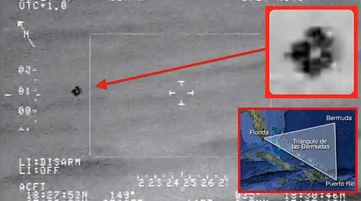 OVNIs captados en el Triángulo de las Bermudas podrían ser organismos
