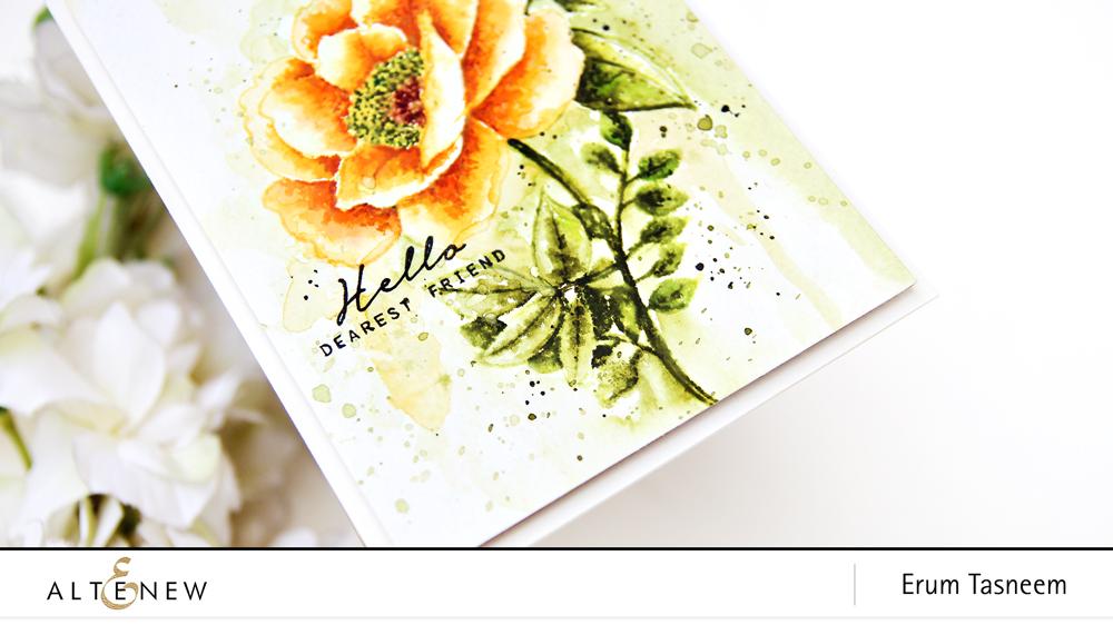 Altenew Wallpaper Art Stamp Set | Erum Tasneem | @pr0digy0
