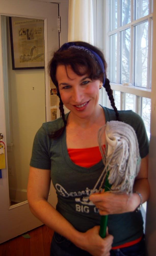 artist miriam Schulman does spring cleaning in the studio