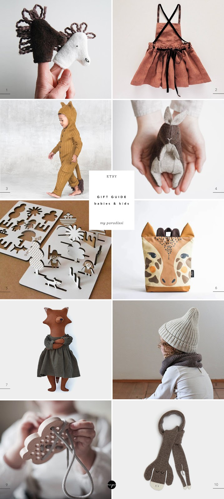 Best gifts for kids, handmade gifts for kids, unique gifts for kids, gifts for babies, gifts for toddlers, etsy gift guide curated by Eleni Psyllaki for My Paradissi