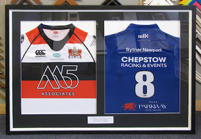 Framed sports shirts