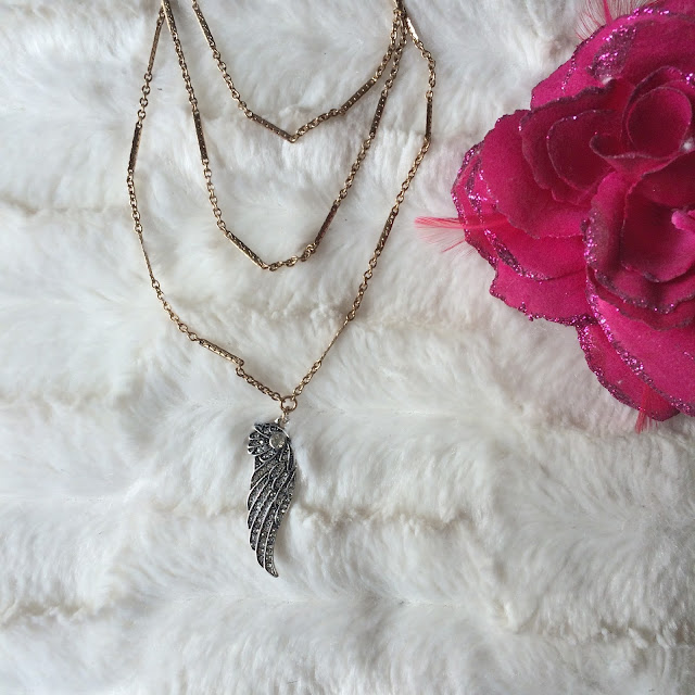 angel two chain gold necklace from happiness boutique