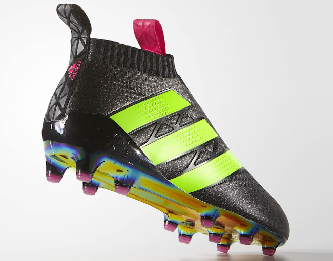 sneakers for cheap 62510 a8b66 Black / Solar Green Adidas Ace 16+ PureControl Boots ...