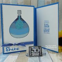 Lift me Up Autism Awareness Light Bulb in Blue