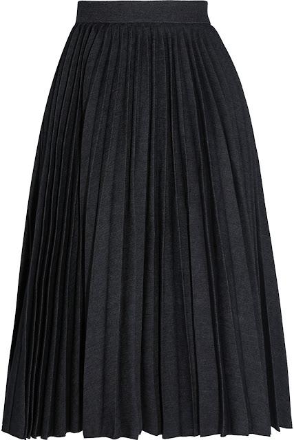 MSGM Pleated Denim Skirt Spring 2016