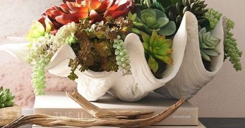 Shop Faux Clam Shell Bowls Coastal Decor Ideas Interior