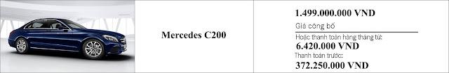 Giá xe Mercedes C200 2019 tại Mercedes Trường Chinh