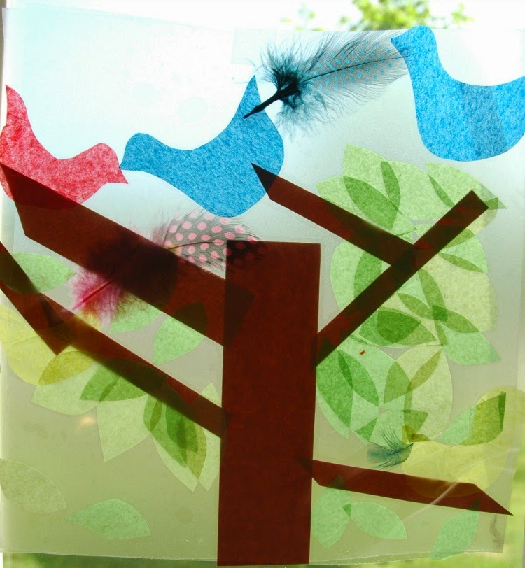 Bird Suncatcher Craft for Kids