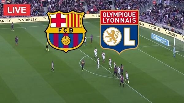 بث مباشر : مشاهدة مباراة برشلونة وليون دوري أبطال أوروبا