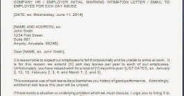 Excessive Sick Leave Warning Letter