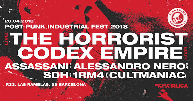 POST-PUNK INDUSTRIAL FEST 2018 || R33, BCN [20Abr2018]