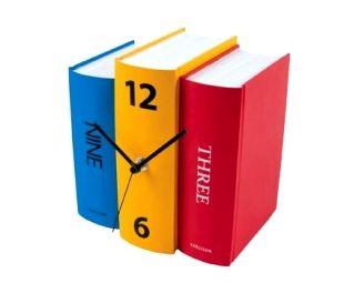 Blog : Horloge livres, Eden Déco