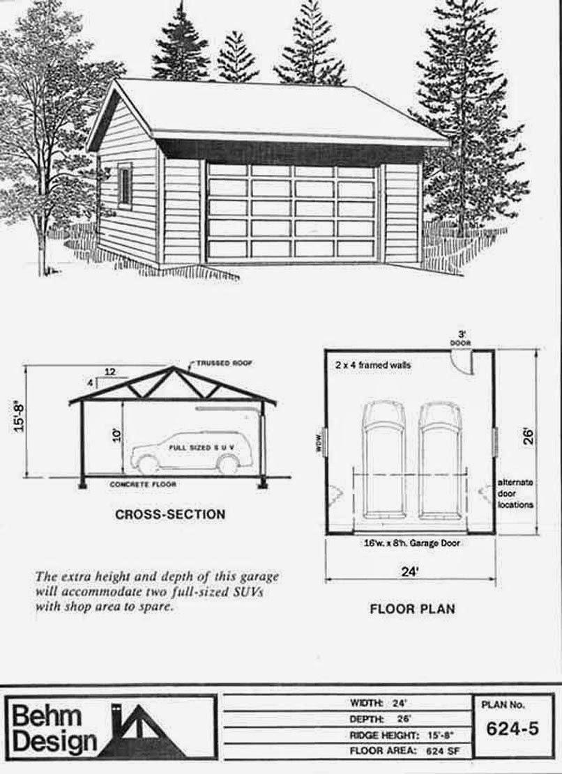 Garage Plans Blog Behm Design Garage Plan Examples Garage Plan – 24 X 26 Garage Plans