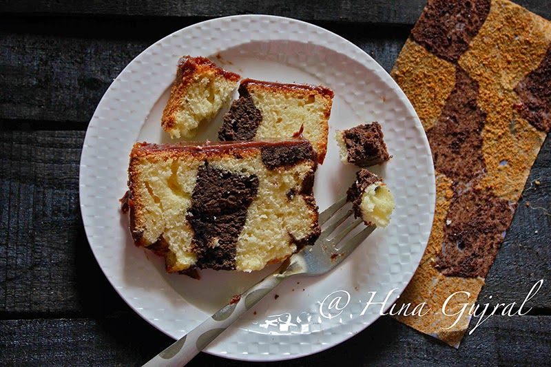 Marble Cake was inwards my take heed from a long fourth dimension but somehow wasn Chocolate together with Vanilla Marble Loaf Cake