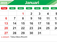 Download Kalender 2019 Gratis Editable File CDR Format Lengkap