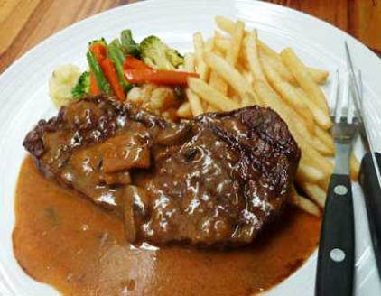 STEAK DAGING SAPI BARBEQUE