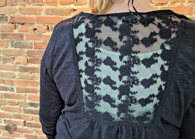 Skies are Blue Silvia Lace Detail Cardigan
