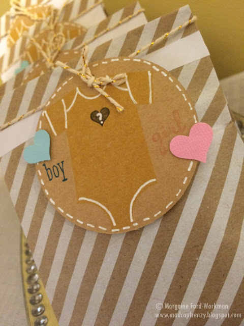 Gender Reveal Party on a Budget treat bags