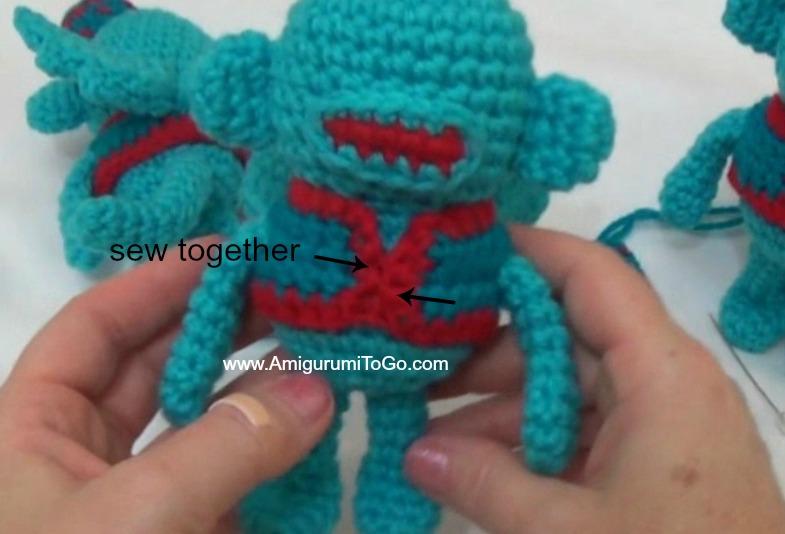 Amigurumitogo Sock Monkey : Flying sock monkey amigurumi to go
