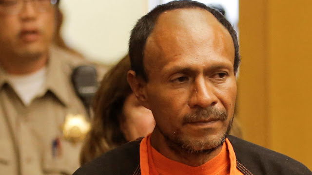 immigrant acquitted of murder The US President used Kate Steinle's death on a San Francisco pier as an example of why his country needed a border wall. 07:55, UK, Friday 01 December 2017 Jose Ines Garcia Zarate, arrested in connection with the July 1, 2015, shooting of Kate Steinle on a pier in San Francisco is led into the Hall of Justice for his arraignment in San Francisco, California, U.S. on July 7, 2015 Image: Jose Ines Garcia Zarate was waiting to be deported from the US
