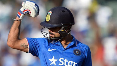 Virat Kohli flexes muscles South Africa ODI Century