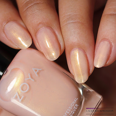 Nail polish swatches and review of Erika from the Zoya Bridal Bliss collection