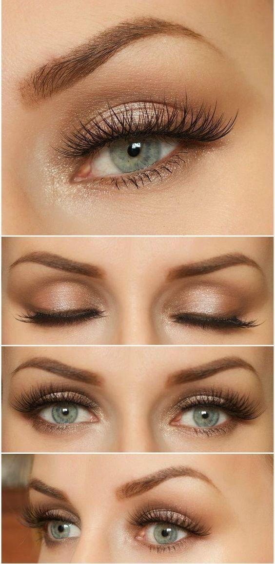 trucco oro occhi chiari