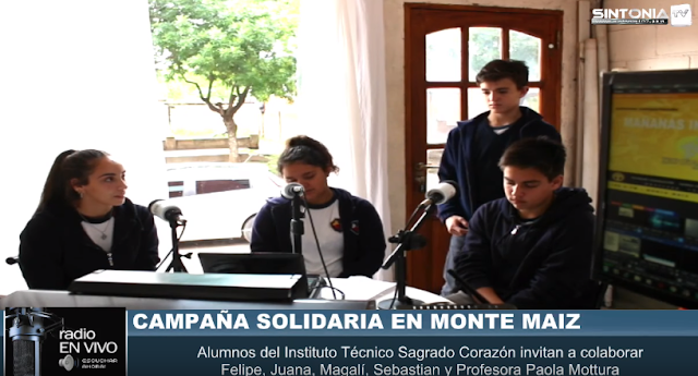 Campaña Solidaria en Monte Maíz para ayudar a Weisburd, Santiago del Estero