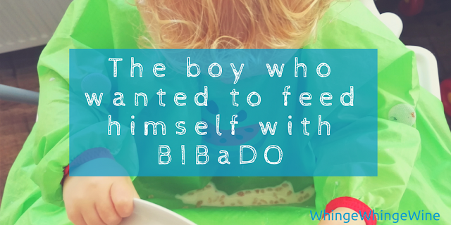The boy who wanted to feed himself: Introducing the BIBaDO baby and toddler bib for easy weaning