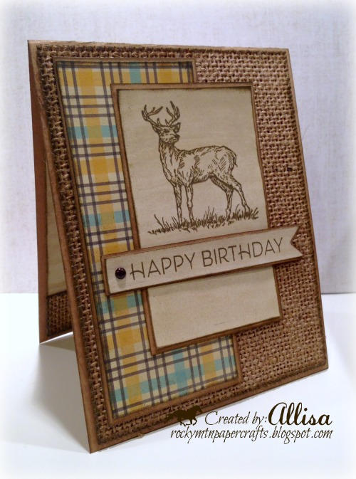 Masculine Deer Birthday Card - Rocky Mountain Paper Crafts