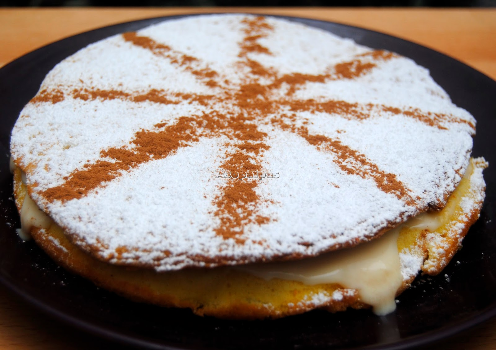 Torta Inglesa con Crema Pastelera
