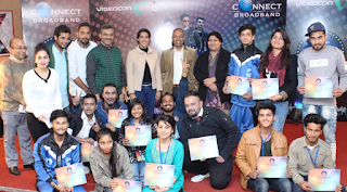 Winners of Videocon Connect 'Young Manch 4' City Finale in Chandigarh