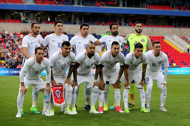 Formación de Chile ante Rusia, amistoso disputado el 9 de junio de 2017